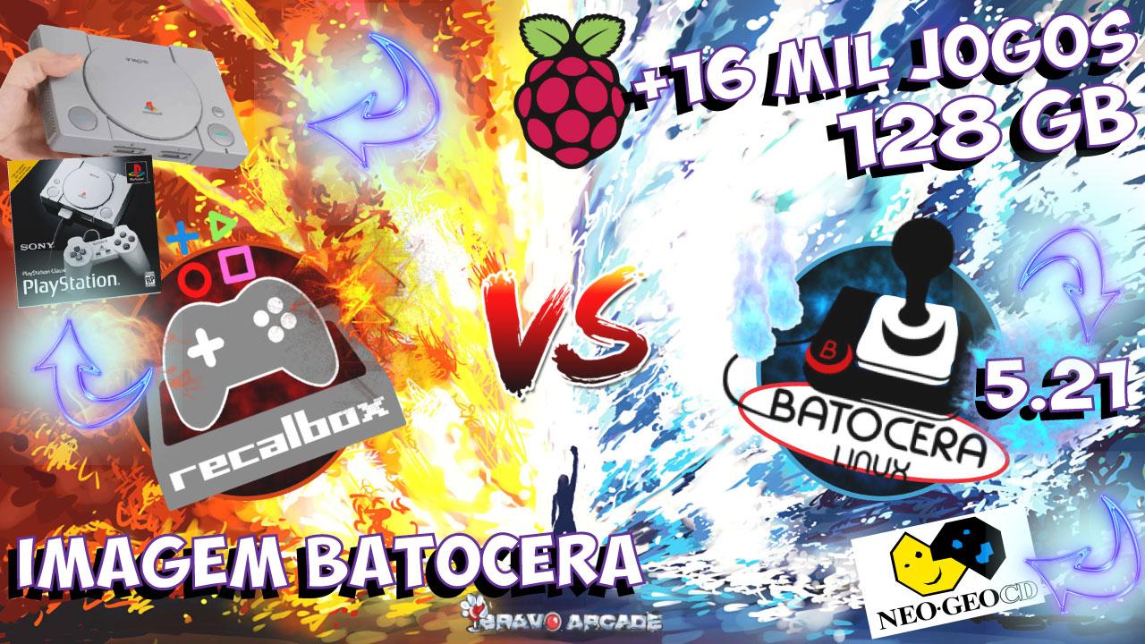 Cartão Micro Sd Batocera 128 GB!!! Raspberry Pi3