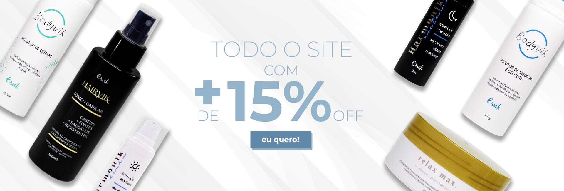 Site todo 15%OFF