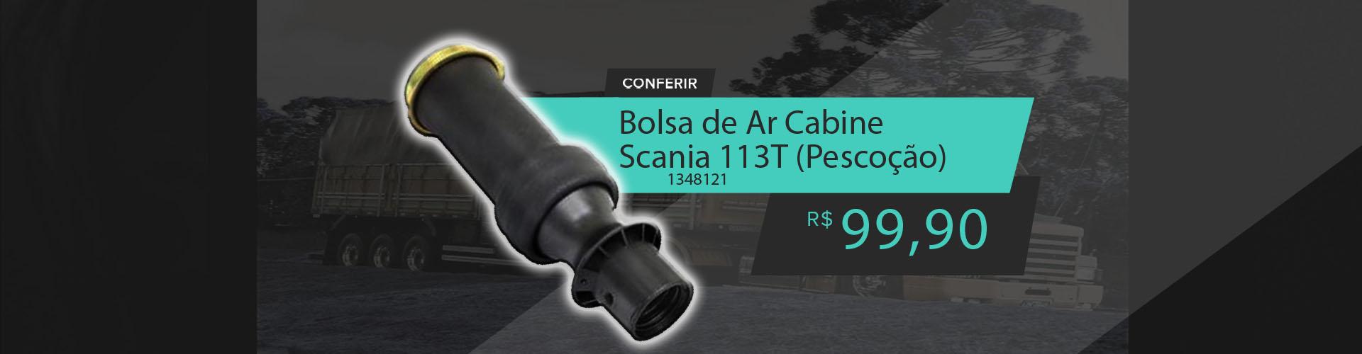 Bolsa De Ar Cabine Scania 113T (Pescoção) Todos R124 para 2002 Diante - 1348121