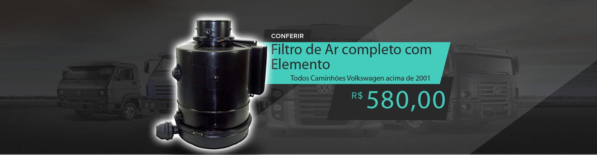 Filtro Ar Completo Com Elemento(Plástico) Volkswagen Todos Caminhões após 2000 - 2RK129607