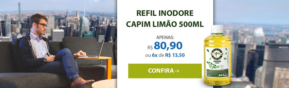 Refil Inodore Capim Limão 500ml