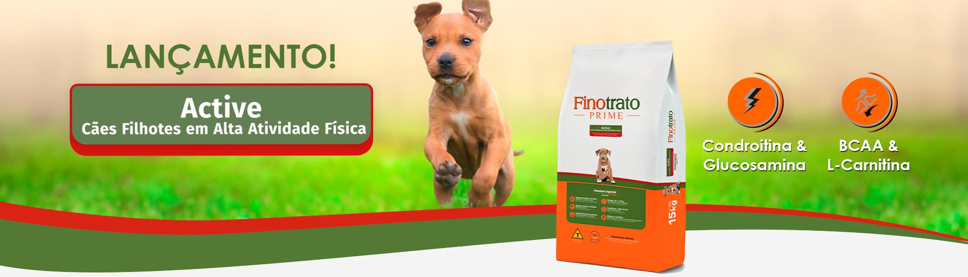 Ração Finotrato Prime Active Premium Especial para Cães Filhotes em Alta Atividade Física de 15Kg