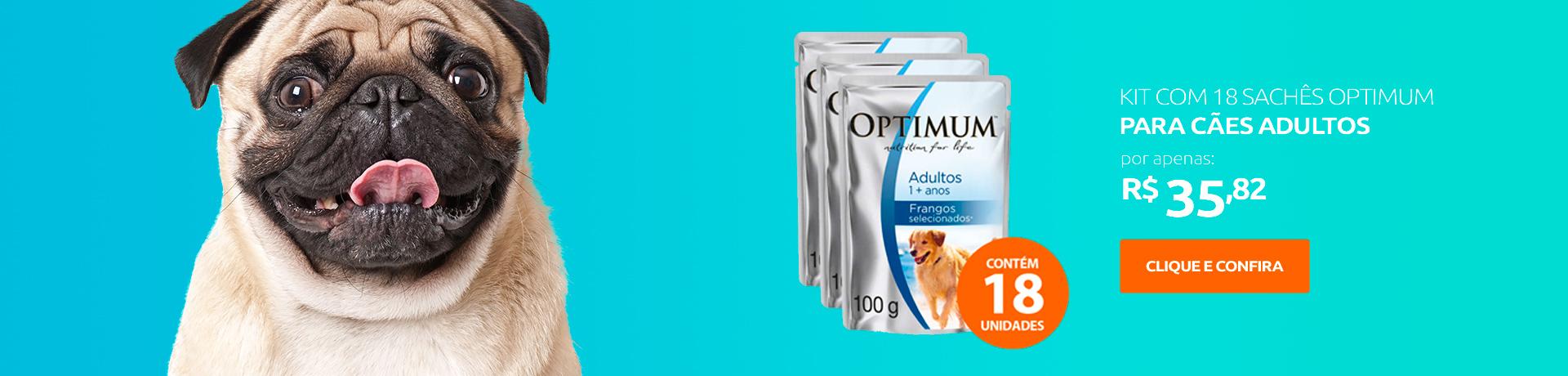 Ração umida Optimum Para Cães Adultos - Sachê
