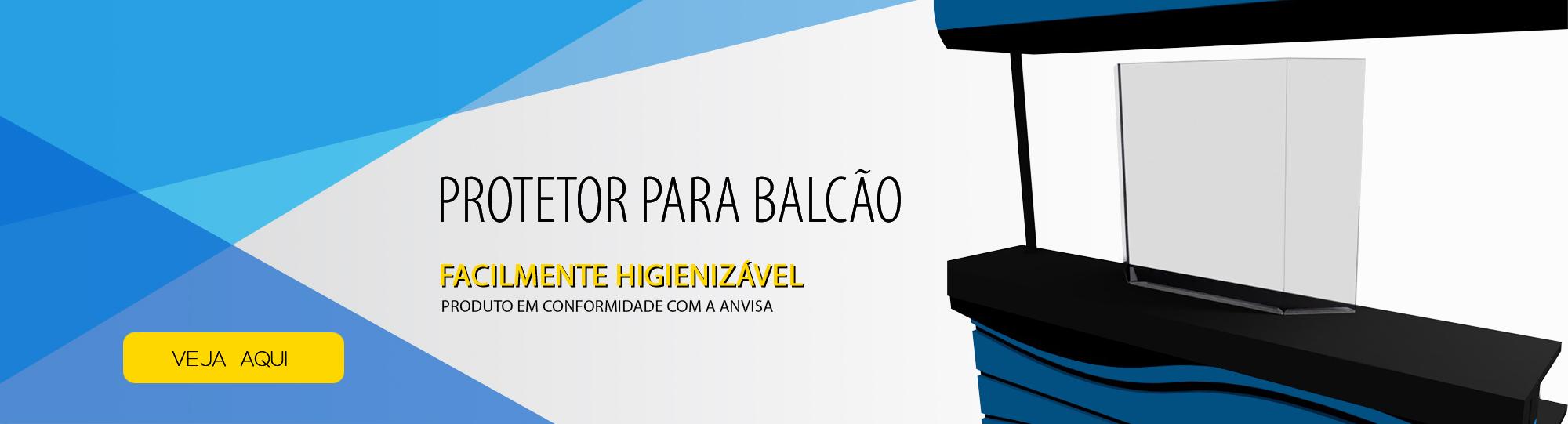 Placa de Proteção Salivar para Balcão