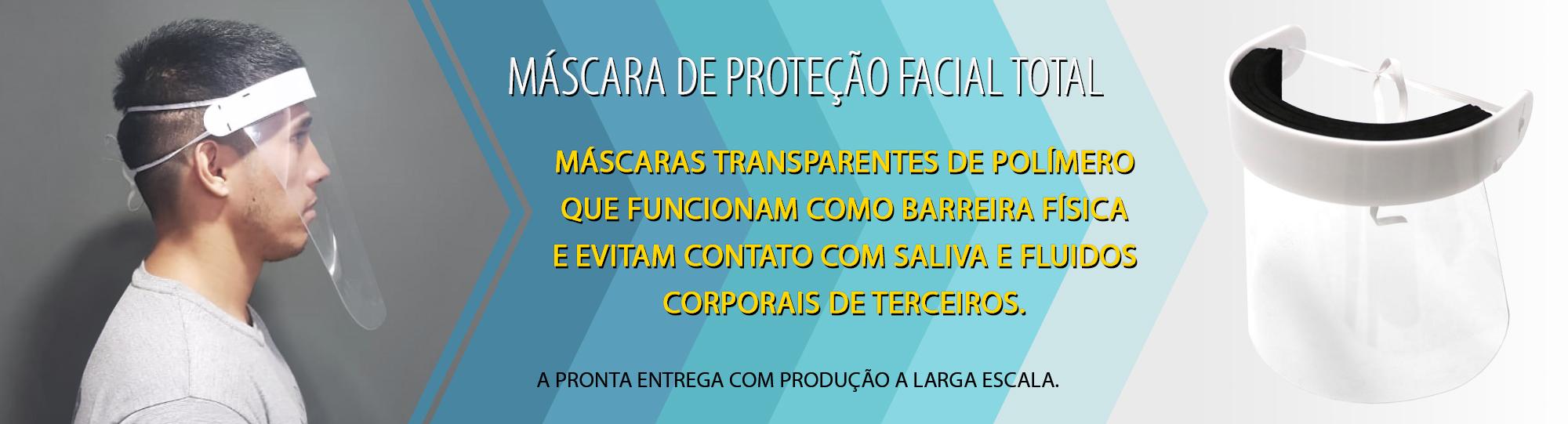 Máscara em Acrílico de Proteção Facial Total