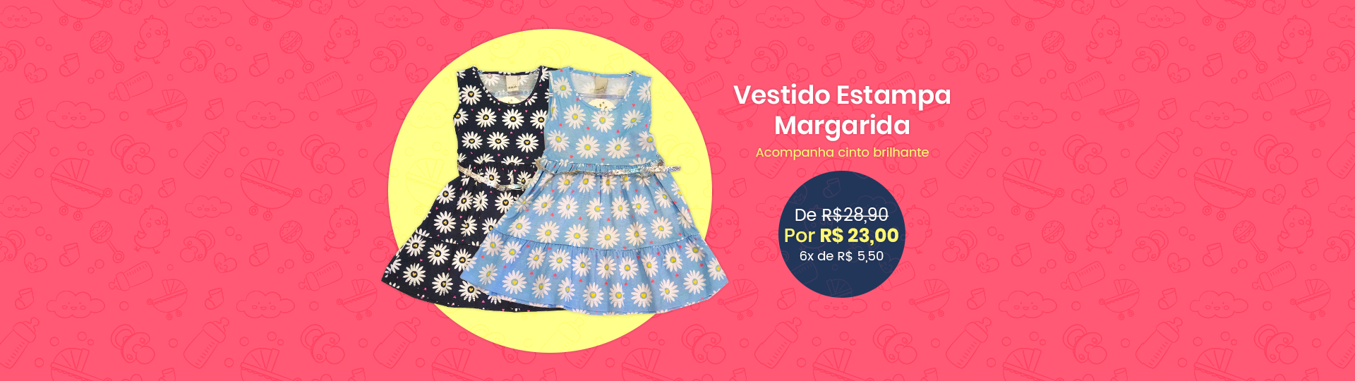 Vestido Estampa Margarida
