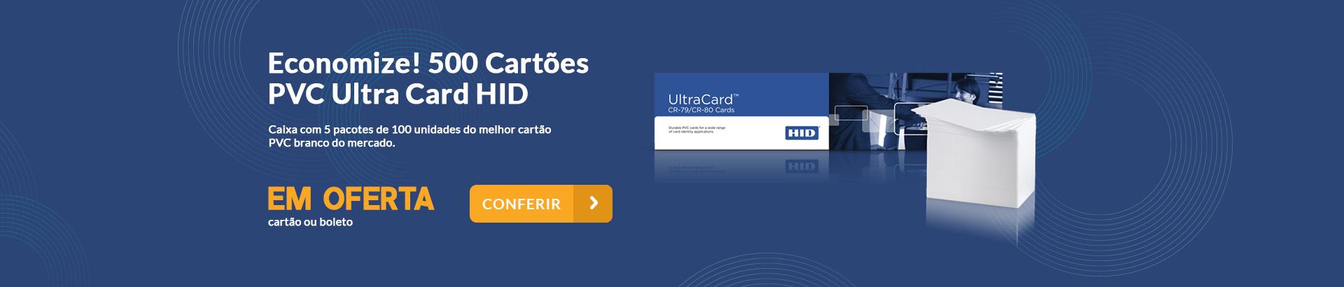 Economize! 500 Cartões Pvc Ultra Card HID