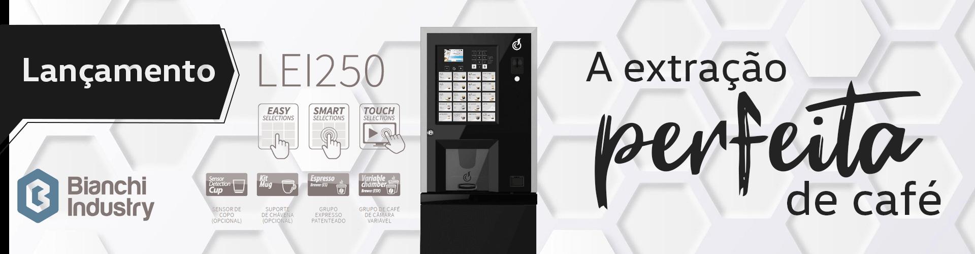 Lancamento LEI 250 - A extração perfeita do café