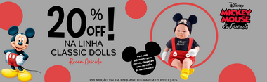 Banner Classic Dolls Mickey Mouse