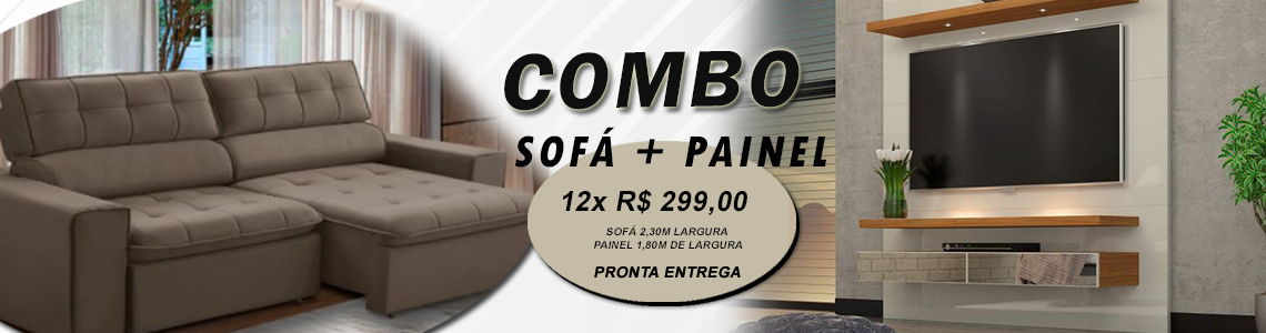 combo sofa+painel