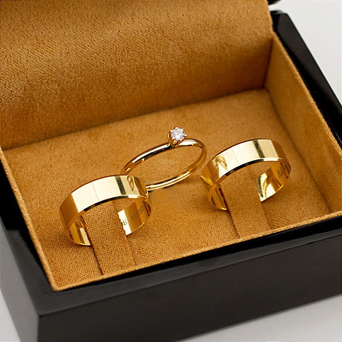 alianças ouro
