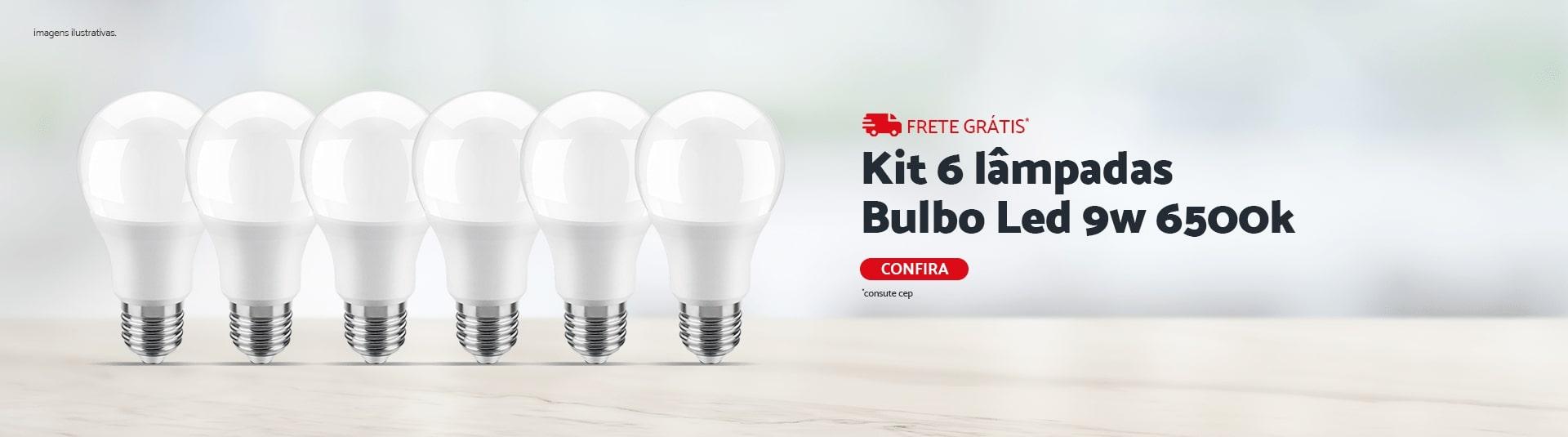 Kit 6 Lampadas Bulbo 9W