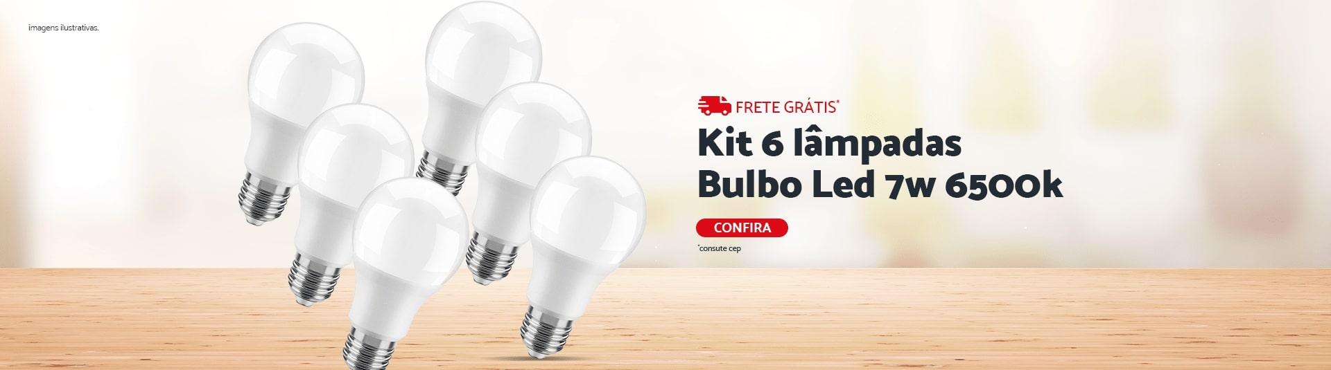 Kit 6 Lampadas Bulbo 7W