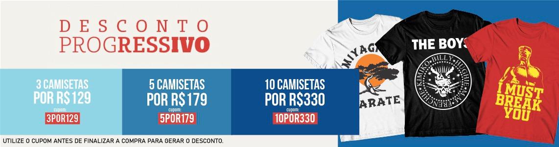 3 5 e 10 camisetas