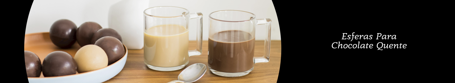 Banner chocolate quente