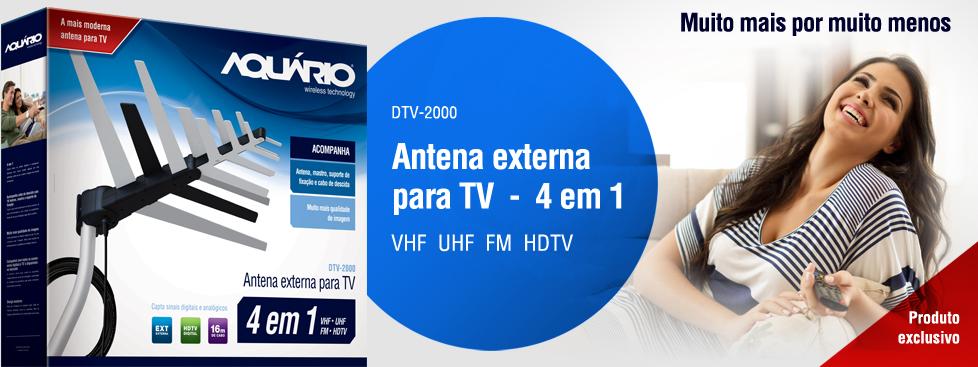 Antena Externa - DTV-2000 - Aquário