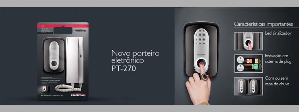 Porteiro Eletrônico c/ Acionamento de Fechadura - PT-270 - Protection