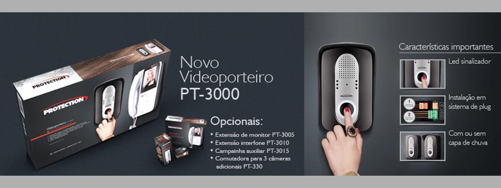 Vídeo Porteiro Color LCD 4 Pol. - PT-3000 - Protection