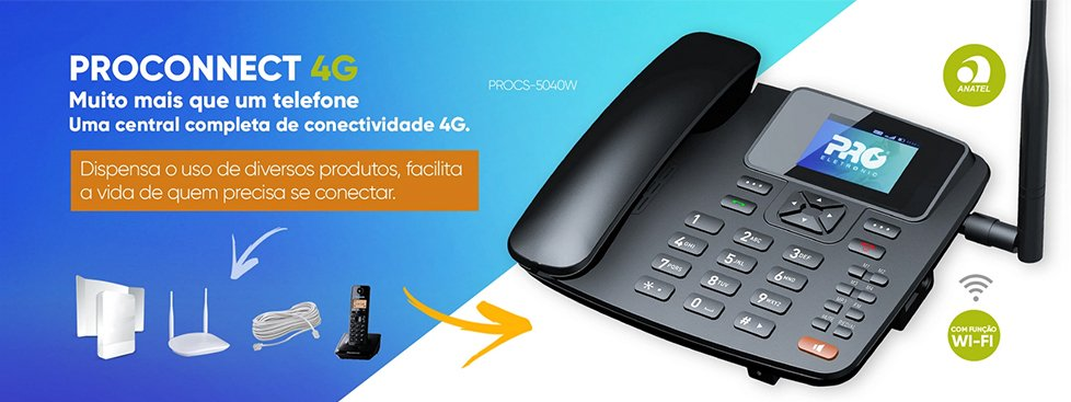 Telefone Celular Rural 4G Wi-Fi - Proeletronic
