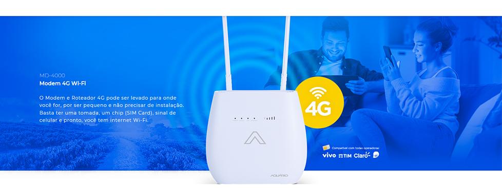 Modem 4G Wi-Fi - MD-4000 - Aquário