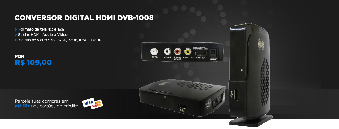 CONVERSOR DIGITAL  DVB 1008