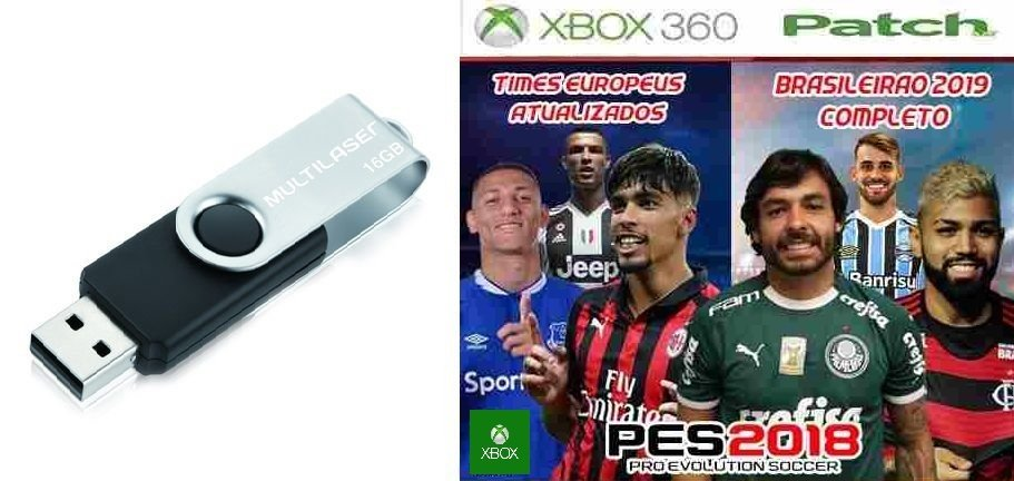 PEN DRIVE + PATCH PES 2018