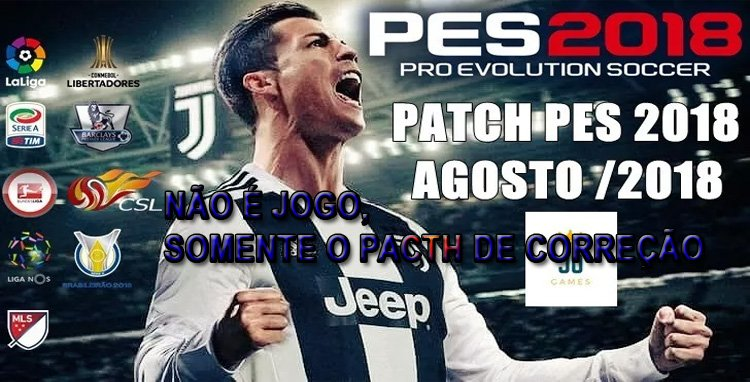 PATCH DE CORREÇÃO PARA GAME PES 2018 PS3 PLAYSTATION 3