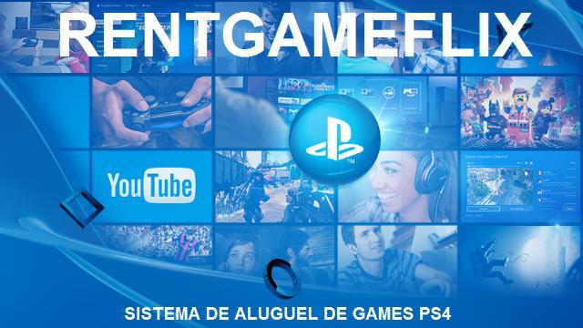 RentGameFlix Aluguel game ps4