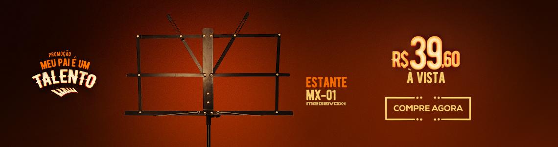 Estante de Partitura Megavox MX-01 Dobrável Simp