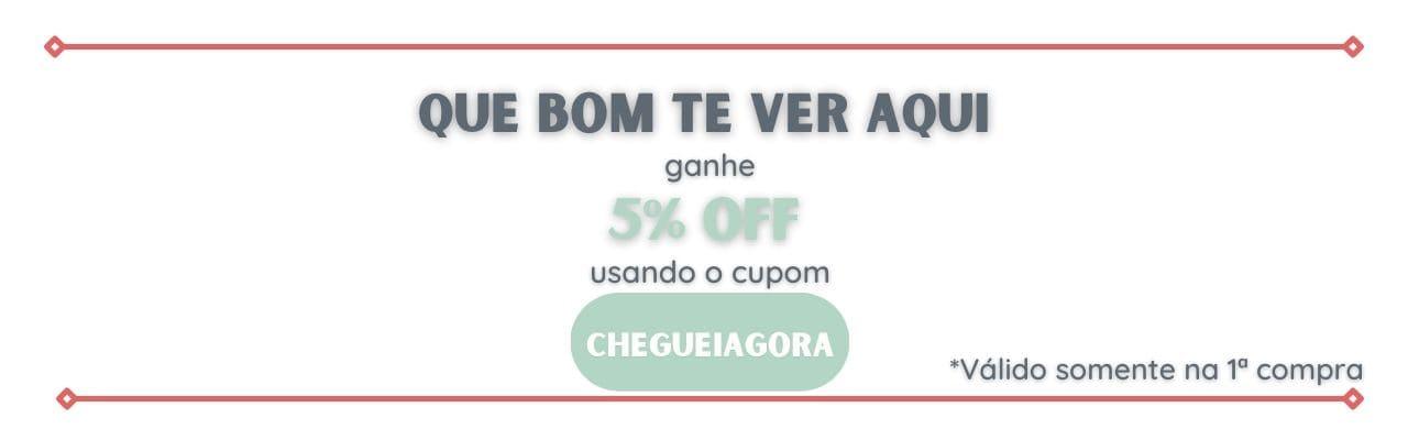 Cupom CHEGUEI AGORA