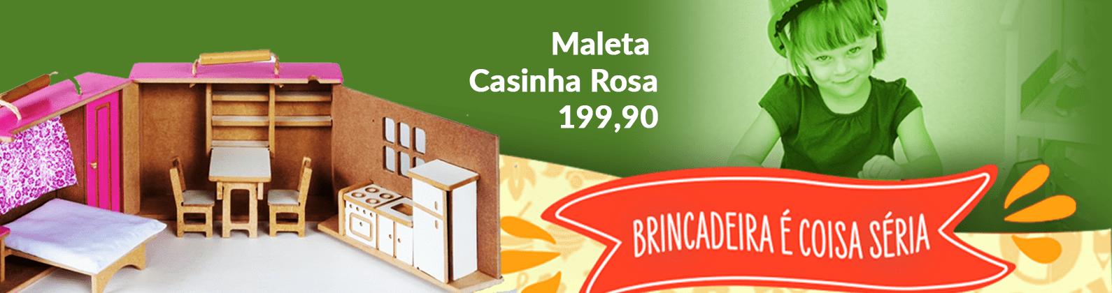 Maleta Casinha Rosa