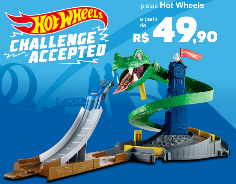 Pista Hot Wheels Ataque da Cobra - mobile