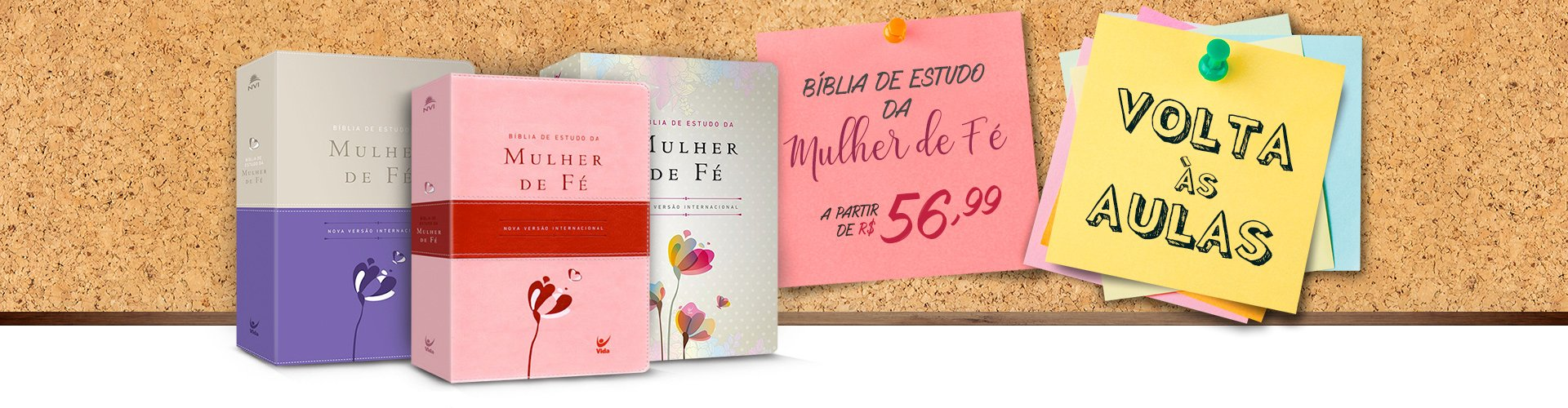 Bíblia de Estudo da Mulher de Fé - Banner Leila