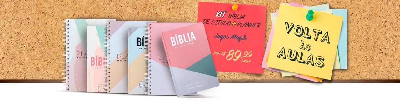 Kit Planner + Bíblia de Estudo Vida diária - Joyce Meyer