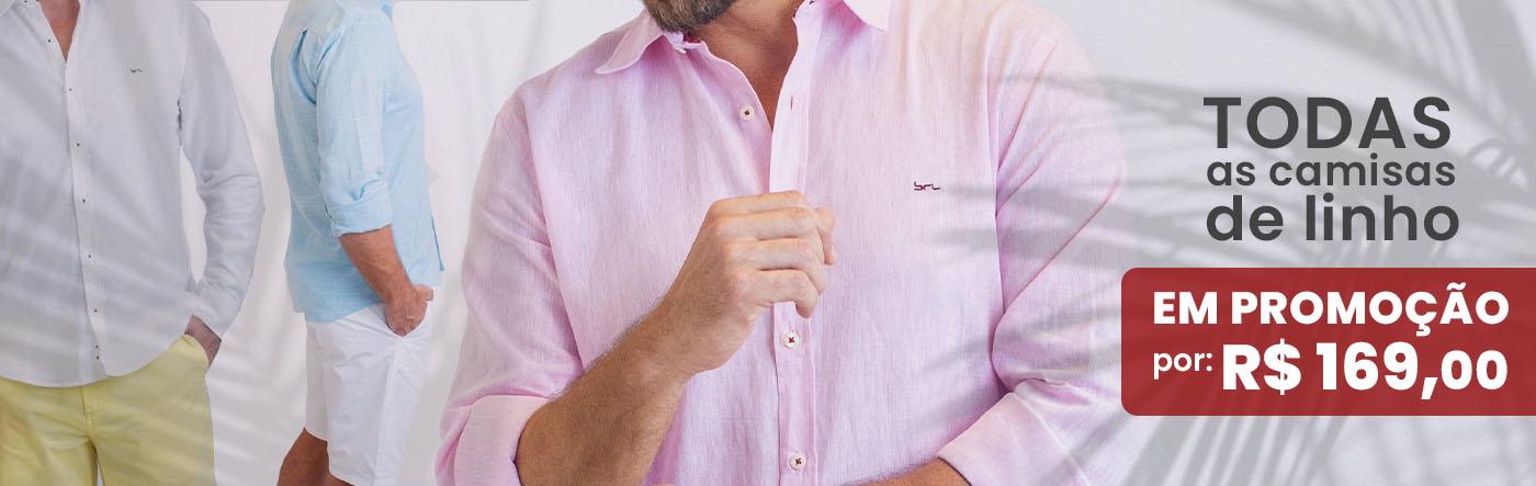 Camisas de linho Home