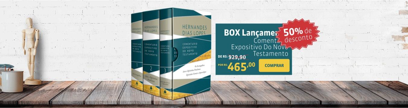 Promoção Box Comentário Expositivo Hernandes Dias Lopes NT