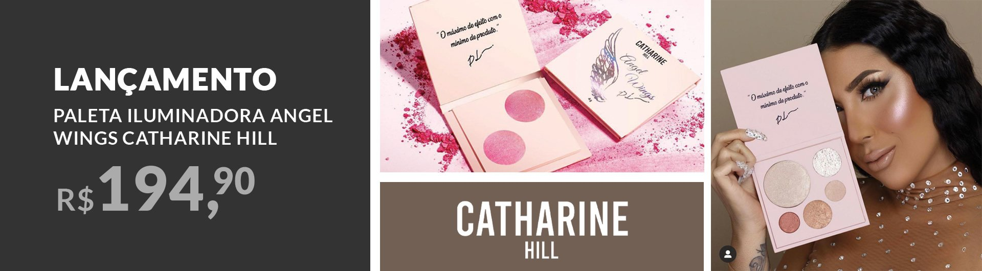 Lançamento Paleta de Iluminador Catharine Hill Angel Wings Pri Lessa 19g