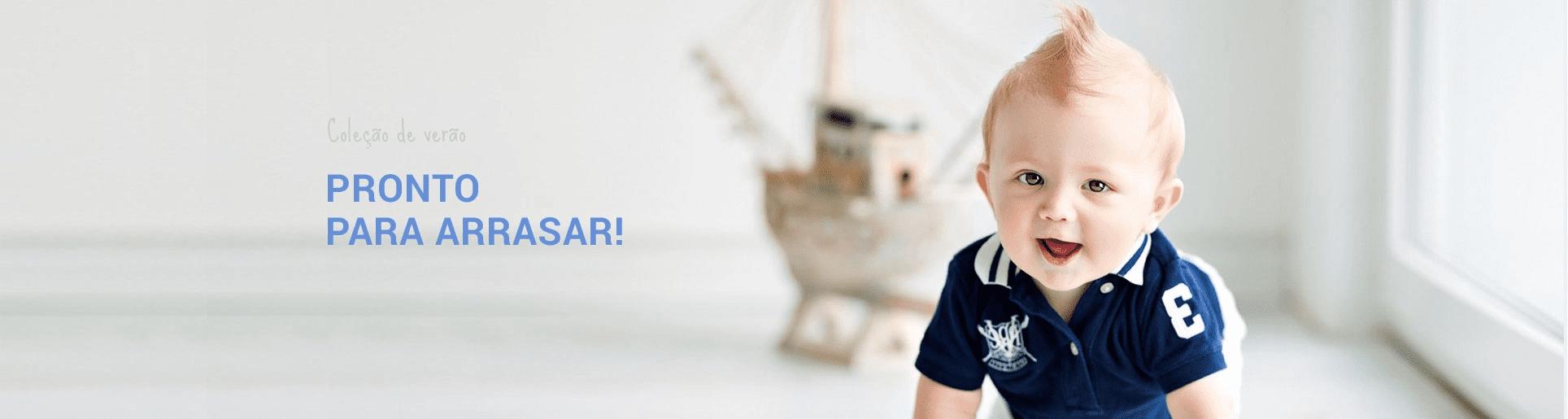 Banner bebê menino mobile