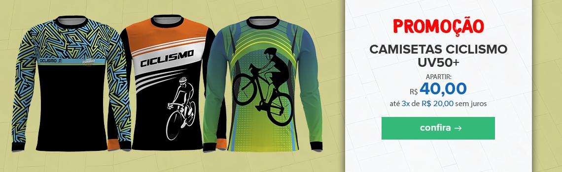 Promoção Camiseta ciclismo