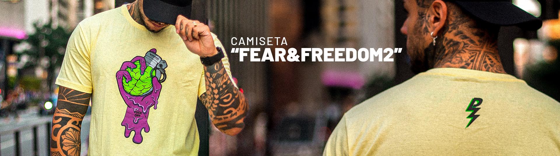 Camiseta Fear&Freedom2