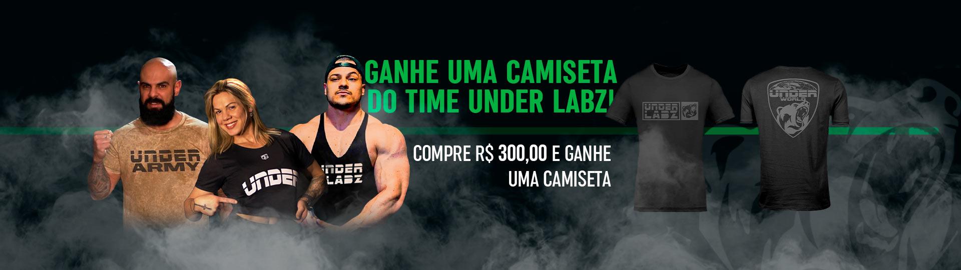 Promoção Compras Acima de R$300 (Ganhe Camiseta)