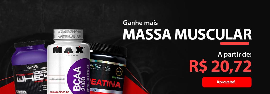 GANHO DE MASSA MUSCULAR