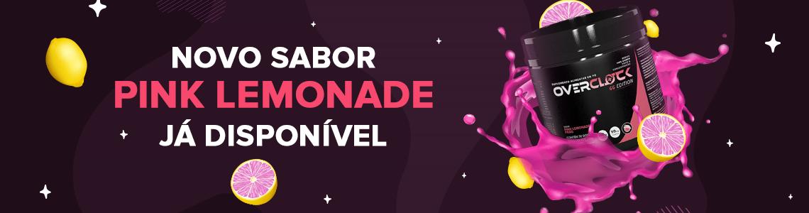 Novo sabor Pink Lemonade