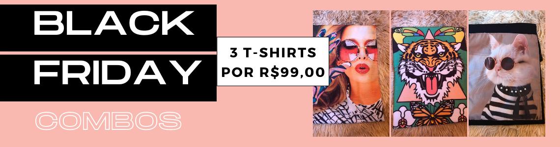 COMBO PROMOCIONAL 3 TEE POR R$ 99,00