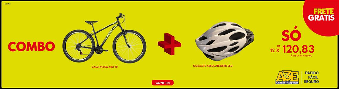 Combo bike Caloi Velox + capacete Absolute
