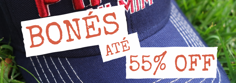 Bonés - Até 55% OFF