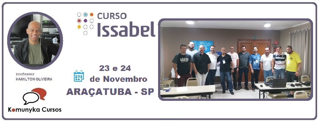 Curso de Issabel PBX IP na Prática em Araçatuba - SP - 5ª Turma