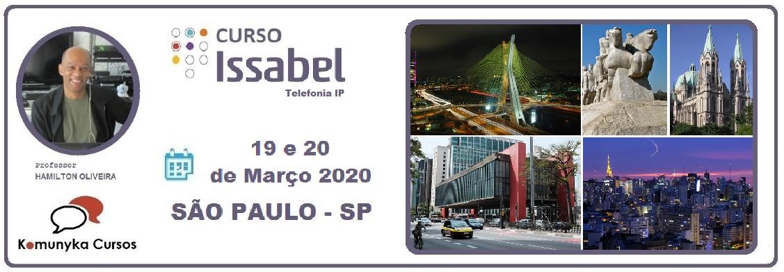 Treinamento em Issabel na Prática - Curso de Telefonia IP - São Paulo - SP 19 e 20 de Março de 2020