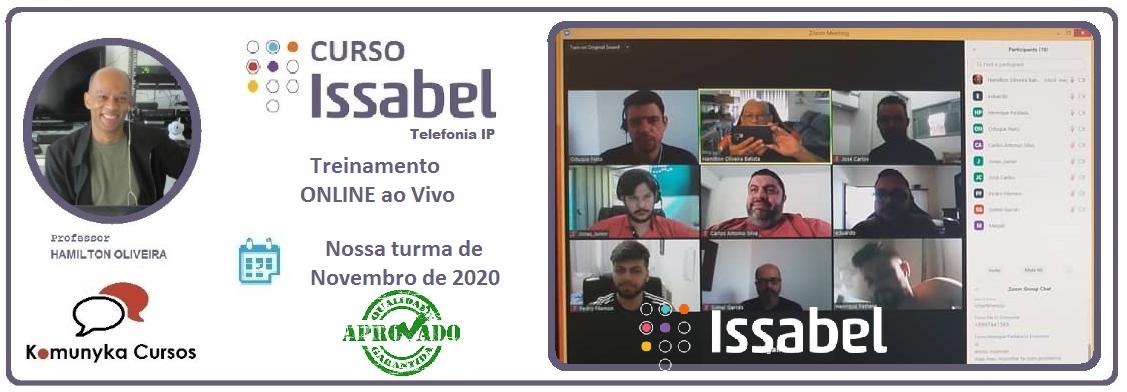 Treinamento Online Issabel PBX ao Vivo - Novembro 2020