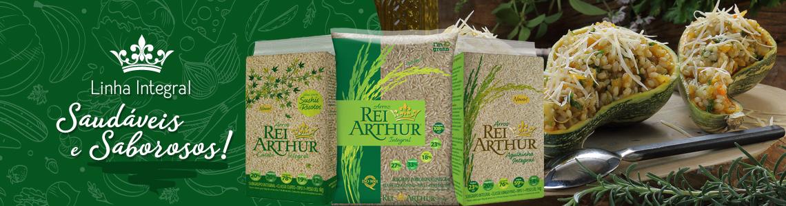 Conheça os produtos da Linha Arroz Rei Arthur Integral